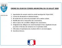 ODJ Conseil du 10/07/2020