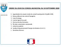 ODJ Conseil du 18/09/2020