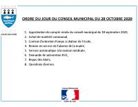 ODJ Conseil du 28/10/2020