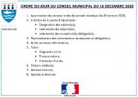 ODJ Conseil du 16/12/2020