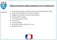 ODJ Conseil du 19/02/2021
