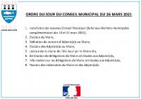 ODJ Conseil du 26/03/2021