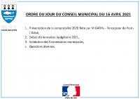 ODJ Conseil du 16/04/2021