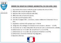 ODJ Conseil du 28/04/2021