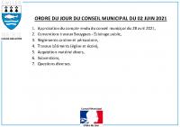 ODJ Conseil du 02/06/2021