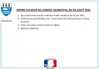 ODJ Conseil du 06/08/2021