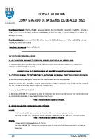 CR Conseil du 06/08/2021